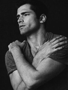 """Sean O'Pry: """"Portrait 1 of 3 by @deanonized """" - September 24, 2014"""