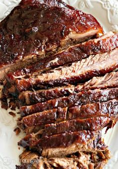 Tender Oven Cooked Barbecue Brisket by The Foodie Affair