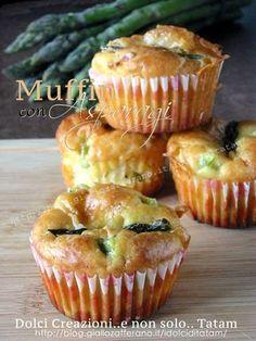 Muffin con asparagi   muffin di focaccia