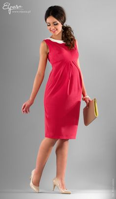 Coral Nickoleta Maternity Dress