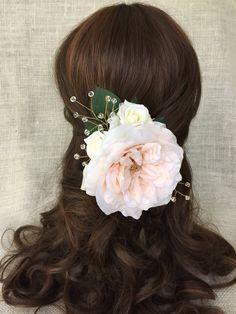 wedding hair accessory crystal wedding hair clip by HollyHoopsArt