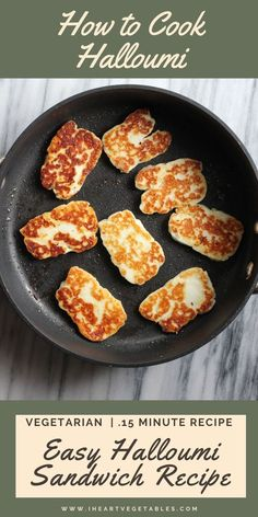 Halloumi is a delicious cheese that gets crispy on the outside and gooey on the inside! Learn how to cook halloumi cheese and make a delicious vegetarian sandwich. Vegetarian Sandwich Recipes, Vegetarian Breakfast, Vegetarian Recipes Dinner, Vegan Recipes, Vegetarian Cheese, Dinner Recipes, Weeknight Recipes, Lunch Recipes, Appetizer Recipes