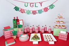 Here's an epic list of 21 ugly sweater Christmas party ideas you won't want to miss! If an ugly sweater Christmas party is part of your holiday plans this year, take note. From ugly sweater Tacky Christmas Party, Diy Ugly Christmas Sweater, Ugly Sweater Party, Xmas Party, Christmas In July, Family Christmas, Holiday Fun, Christmas Games, Diy Christmas Party Decorations