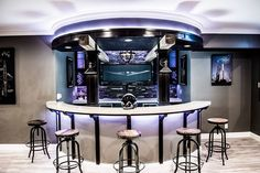 I built a curved aviator bar in my basement. wWII leather bomber jacket cigar sofas And all...6 months of work shown in 93 photos. enjoy! Check out the full project http://ift.tt/2cCHFVg Don't Forget to Like Comment and Share! - http://ift.tt/1HQJd81