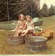 Looks like my swimming pool when I was about six.I still have the wash tubs