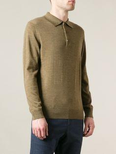 Men - A.P.C. Polo Collar Sweater - WOK STORE