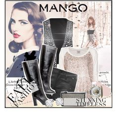 """Winter Aesthetic with Mango and That's Chic"" by bibi4eva ❤ liked on Polyvore"