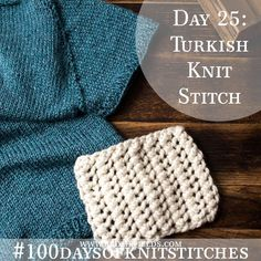 How to Knit Chunky Lace {Turkish knit stitch}