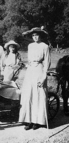 Anastasia and Tatiana. Tatiana inherited her mother's slender and graceful bearing.