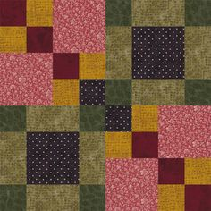 Sew Four Square, Another Pattern in My Easy Quilt Block Series: Make Four Square quilt blocks.