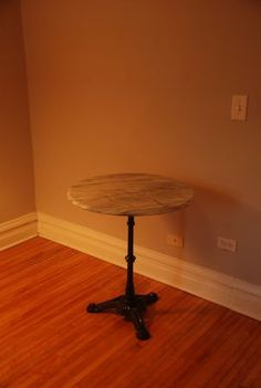 Vintage Marble French Bistro Table