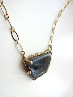 Labradorite Necklace-One of a Kind Labradorite by PigeonDynamite