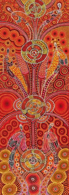 Dreamtime Ladies - Kathleen Wallace - Aboriginal Art