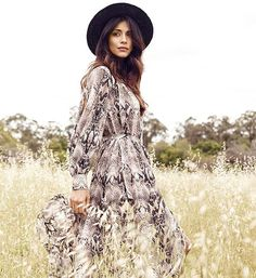 An ode to Australian style - mother, actress and model Pia Miller wears Witchery Snakeskin Maxi in this month's issue of @womensweeklymag. Shop her look online and in-store now #witcherystyle