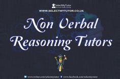 Are you an #NonVerbalReasoning Tutors tutor? Register with us today for free.  #tutor #hometutor #onlinetutor #tutoring http://www.selectmytutor.co.uk