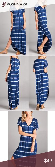 KANA tie dye boho chic dress - NAVY Super comfy & CHIC tie dye dress. Had to restock 1 more time. NO TRADE, PRICE FIRM Bellanblue Dresses Maxi