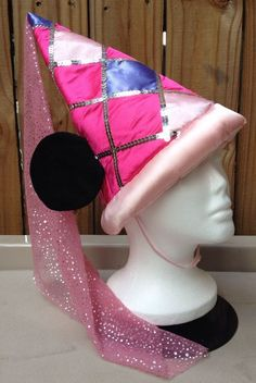 Pink Princess Minnie Mouse Ears Hat Disney World Youth Costume Sparkly Plush  #Disney