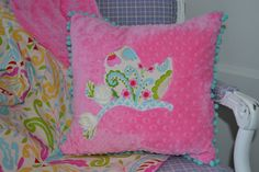 Baby Nursery Decor Nursery Bedding Minky pillow by LyLyRosee, $22.00