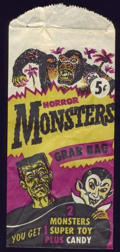 Monsters Grab Bag * 1500 paper dolls The International Paper Doll Society ArtrA artist Arielle Gabriel *
