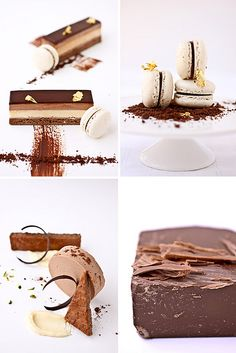 milk chocolate and passion fruit three ways