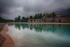 """""""Agosto  è il mese più freddo dell'anno"""" Perturbazione Sabato 1 Agosto 2015 lago artificiale del Forte Albertino (Vinadio, Italia)"""