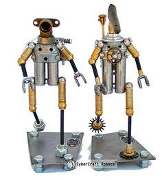 Sirius and Corvus, Star Rangers - from CyberCraft Robots  http://CyberCraftRobots.com
