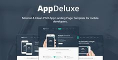 See More AppDeluxe - App Landing Page PSD Templatetoday price drop and special promotion. Get The best buy