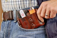 Belt Holder, Leather Holster, Kydex Holster, Edc Everyday Carry, Pocket Organizer, Leather Projects, Leather Crafts, Edc Gear, Leather Working