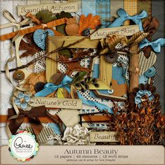 Autumn Beauty Scrap Kit - Can never have enough Autum kits.  Love the colors!