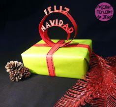 Topper de papel para coronar tus regalos #Regalo #Gift  amor, love, gift wrapping,