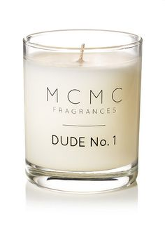 Dude No. 1 scented candle