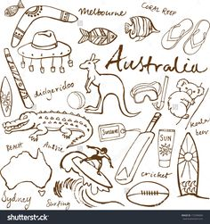 Australia doodles