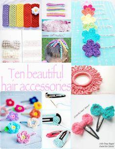 Ten Crochet Hair Accessories