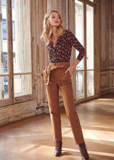 La Petite Parisienne Damen Gestreifter Blazer Polyester-Qualität