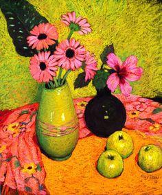 Judy Drew - Gerberas and Apples