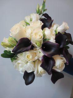 Dark Purple (Schwartzwalder) Calla Lilies Brides Bouquet - Lake Florist