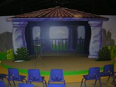 Worlds of Wow - stage murals are popular in large group rooms, like this one at First Baptist Church in Odessa, TX.