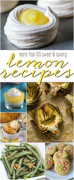 More than 100 Sweet & Savory Lemon Recipes