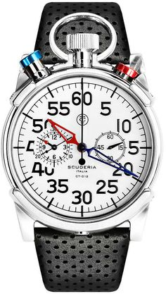 CT Scuderia Watch Corsa Chronograph #bezel-fixed #bracelet-strap-leather…