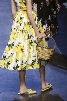 A walk down to the market... Discover all the @dolcegabbana #SS16 looks as they come in: http://nwf.sh/1QGNrSy #MFW