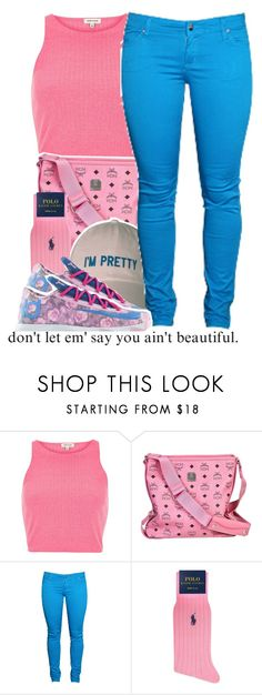 """""""I'm Pretty"""" by fashionkilla-lex ❤ liked on Polyvore featuring River Island, MCM, Dollydagger, Ralph Lauren and NIKE"""