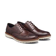 b9f383599 Sapato Brogue Elié 100% Couro com solado em Borraçha TR Damasco Marrom