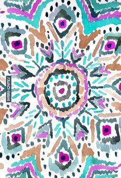 Daily Color #156: Feather Mandala #feather #mandala #watercolor #barbraignatiev