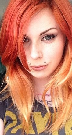 Blonde hair with orange ombre trendy hairstyles in the usa blonde hair with orange ombre urmus Image collections