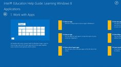 Intel® Education Help Guide // Great for educators and students, the Intel® Education Learning Windows 8 app can help you find time-tested friends like the Desktop, charms, live tiles, and an option to power down to get your through airport security and onto your destination.