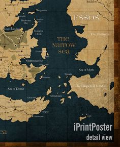 Game of thrones map of the world including the continents of game of thrones poster westeros map print game of thrones map print game of thrones wall art home decor iprintposter gumiabroncs Choice Image
