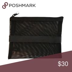 "❤️ Smashbox Mesh Cosmetics Pouch This handy pouch has a velvet feel, rubberized stripe across the middle with the Smashbox logo. Convenient for things like hair pins, contact lenses, or makeup. Never used.  approximately 5"" x 6.5""  ❌ Sorry, no trades. Sephora Bags Cosmetic Bags & Cases"