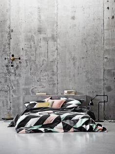 The Design Chaser: Aura Autumn 2015 Collection Designers Guild, Winter Bedding, Concrete Interiors, Interior Architecture, Interior Design, Quilt Cover, Beautiful Bedrooms, Bedroom Wall, Linen Bedroom