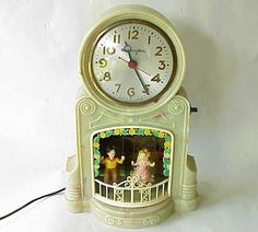 Vintage Mastercrafters Swinging Boy & Girl Clock. NICE!!!!