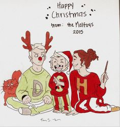 lovelyladymudblood:  Happy Christmas  from: The Malfoys  I hope everyone has a wonderful Christmas